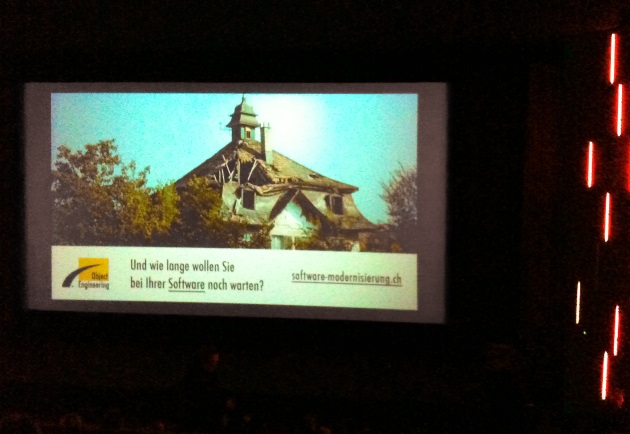 Foto von der Object Engineering GmbH Werbung im Kino