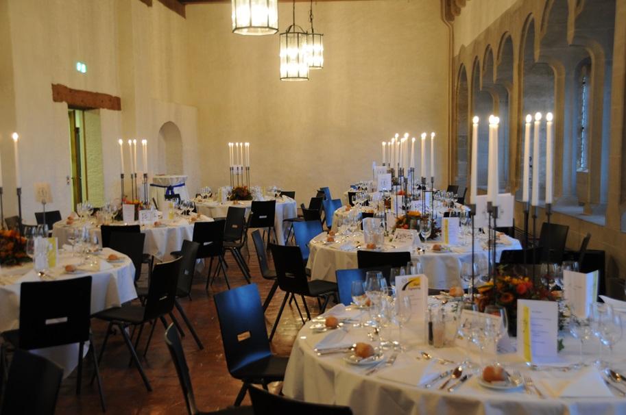 Foto vom Saal im Schloss Lenzburg.